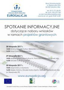1-plakat - spotkania informacyjne dot. grantów