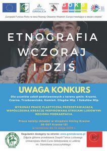 Etnografia wczoraj i dziś plakat