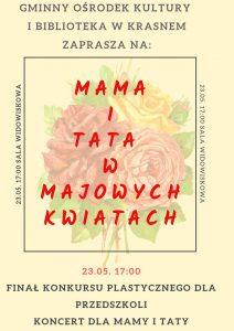 Mama i tata w majowych kwiatach plakat 2